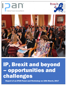 cover image: IPAN Report: IP, Brexit and beyond - opportunities and challenges