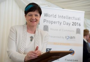 Baroness Neville-Rolfe addressing IPAN's sixth World IP Day event