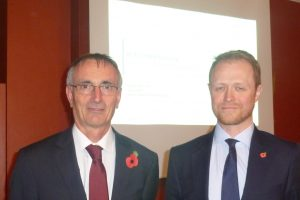 John Ogier (left)with Calum Smyth (right) AGM Nov2016